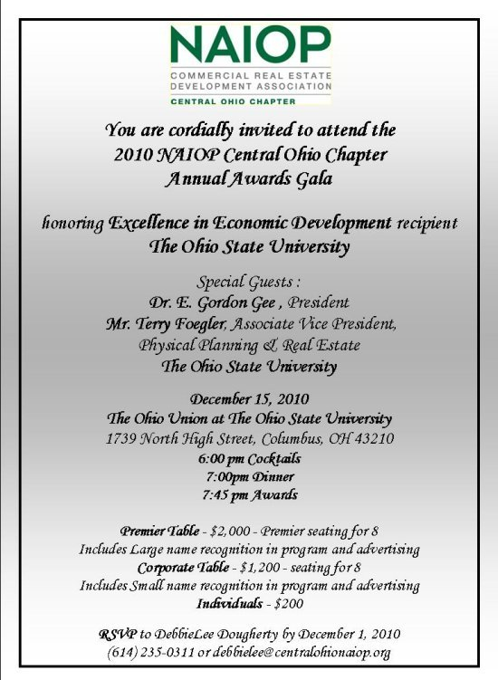 Awards Invite 2010