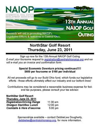 2011 Golf flyer