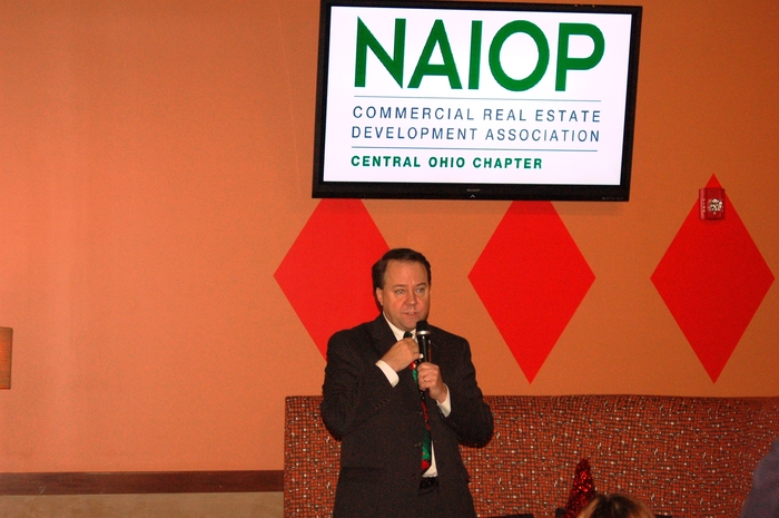 Rep. Pat Tiberi speaks to NAIOP sponsors