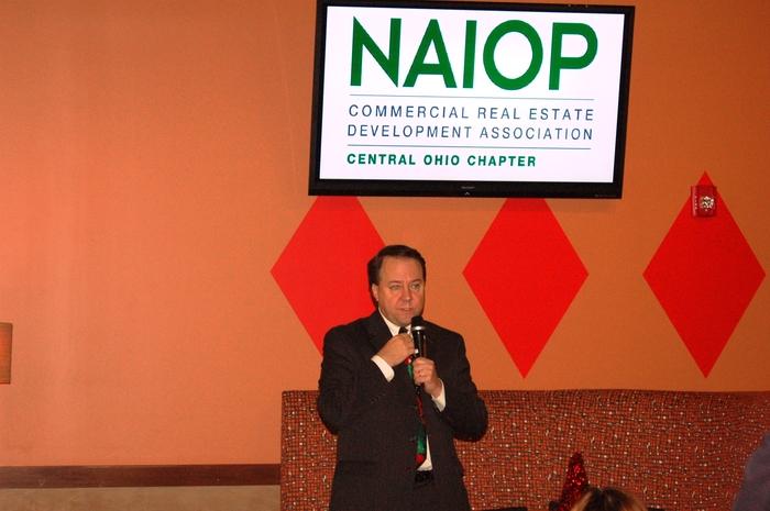 Rep. Pat Tiberi speaks to NAIOP sponsors